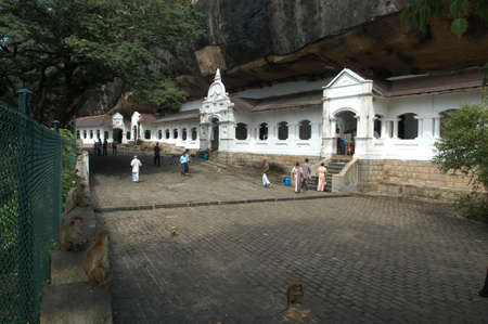 ��archeological site�: archeological site of Dambulla  Editorial