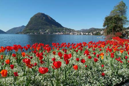 gulf of Lugano on the italian part of switzerland Editorial