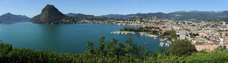 gulf of Lugano on the italian part of switzerland Stock Photo