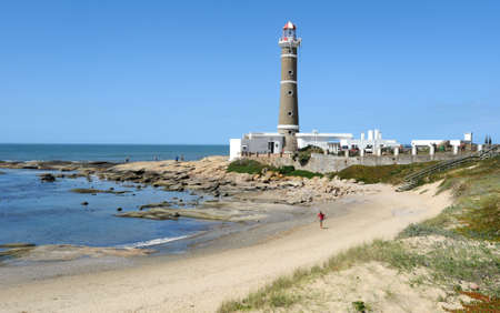 beach and lighthouse of Jose Ignacio on the Uruguayan coast