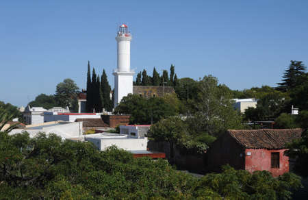 the town of Colonia del Sacramento Standard-Bild