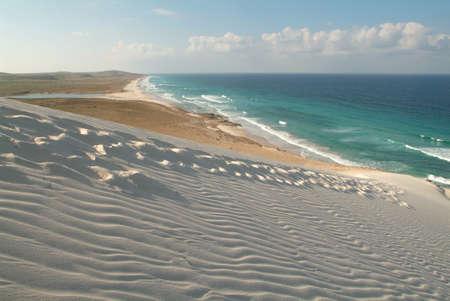 La spiaggia di Deleisha sull'isola di Socotra, Yemen