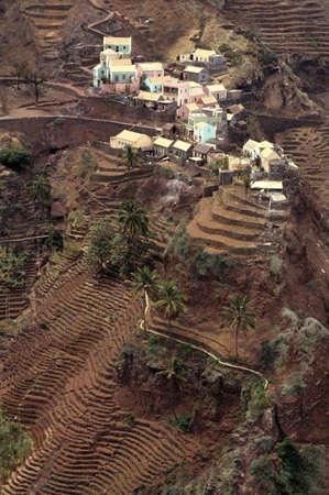 il villaggio di Fontainha sul arcipelago di Cabo Verde