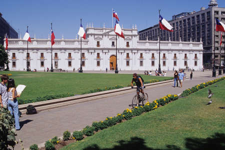 La Moneda palace at Santiago del Chile
