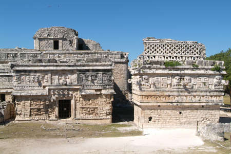 archaeological site: archaeological site of Chichen Itza. Stock Photo
