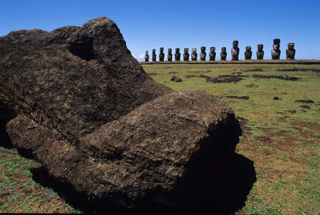 Moai of Easter Island photo