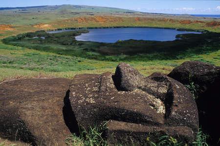 イースター島のモアイ 写真素材