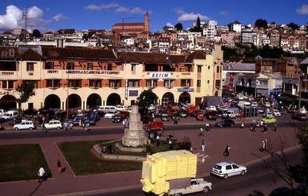 都市やマダガスカルのアンタナナリボ首都 報道画像