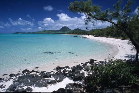 Ile aux Cerfs on Maurice Island Stock Photo