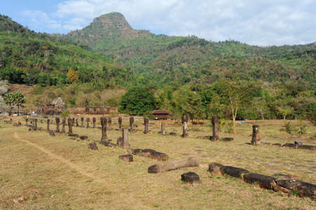 the archaeological site Wat Phu on Laos