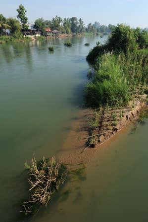 det: River Mekong between Don Det and Don Khon islands on Laos