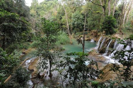 Cascata di Xiagnabouli vicino a Luang Prabang in Laos
