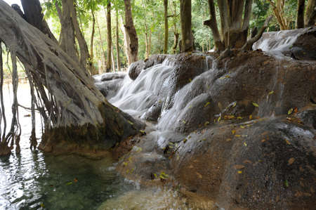 Waterfall of Xiagnabouli near Luang Prabang on Laos photo