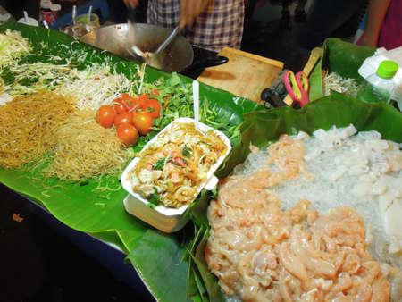 Pat Thai noodles on the market at Bangkok Stock Photo - 16114383