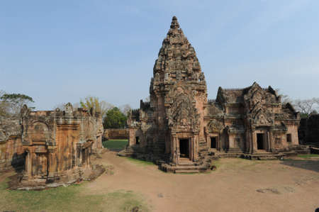 phnom: archaeological site of Phnom Rung on Thailand