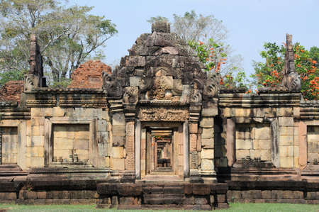 tam: archaeological site of Prasat Muang Tam on Thailand
