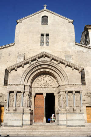 arles: The church of Saint Trophimus at Arles on France Editorial