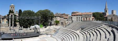 arles: The roman amphitheater of Arles on France