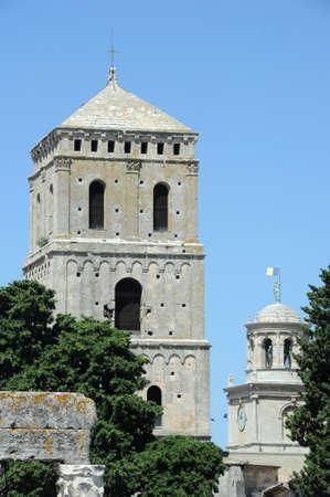 arles: towers Saint Trophime at Arles on France