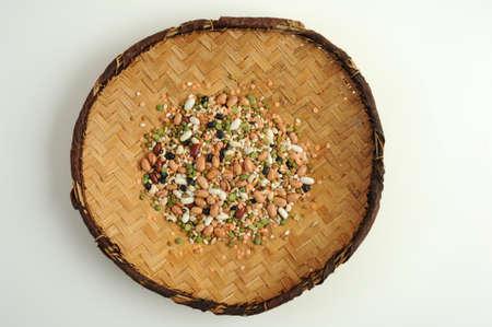 mixture: mixture of legumes vegetarian food Stock Photo