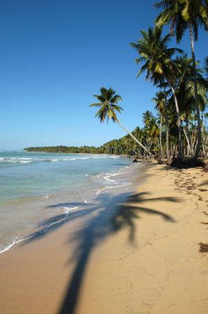 The beach of Bonita at Las Galeras on Dominican Republic