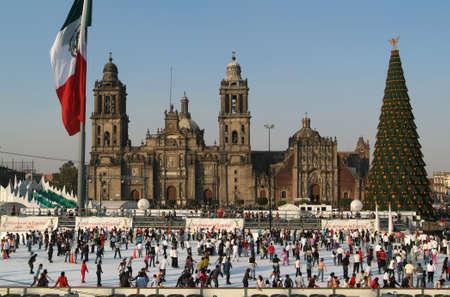 メキシコシティ, メキシコ ソカロ広場 報道画像