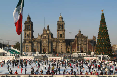 Zocalo square at Mexico City, Mexico