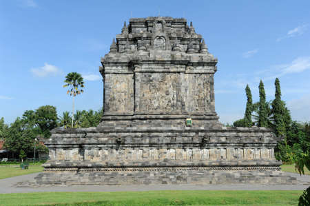 archaeological site: TThe archaeological site of Mendut on the island of Java Stock Photo