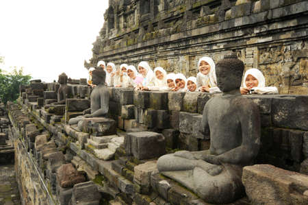 The archaeological site of Borobudur on the island of Java