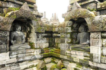 The archaeological site of Borobudur on the island of Java photo