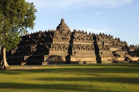 il sito archeologico di Borobudur, sull'isola di Giava Archivio Fotografico
