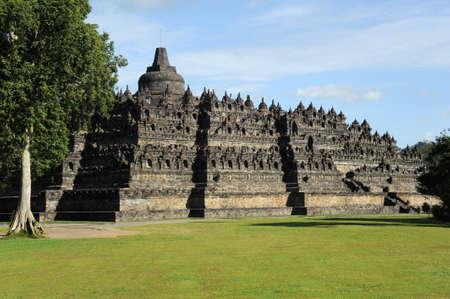 the archaeological site of Borobudur on the island of Java photo