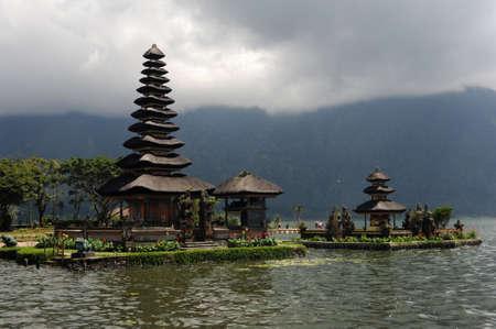 pura: The temple of Pura Ulu Danau at Bedugul on Bali