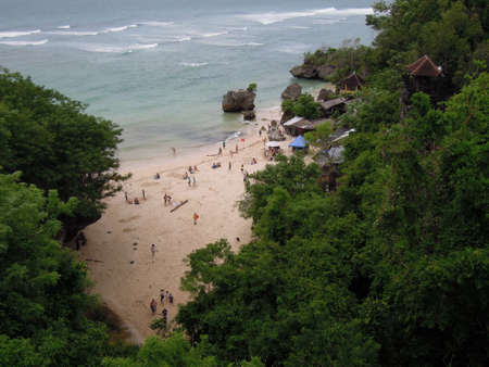bukit: The coast at Padang Padang on the island of bali, Indonesia Stock Photo