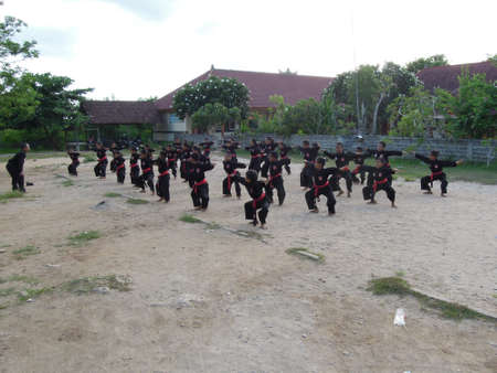 nusa: Martial arts on a school at Nusa Lembongan on the island of Bali, Indonesia