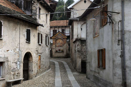 orta: The village of Arto over lake Orta