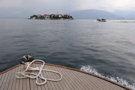 The island of Pescatori on lake Maggiore Banco de Imagens