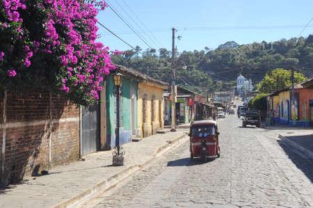 The colonial village of Conception de Ataco on El Salvador Editorial