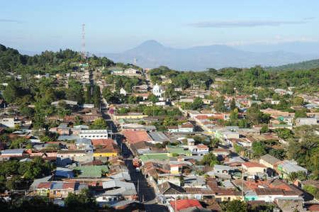 The colonial village of Conception de Ataco on El Salvador Stock Photo