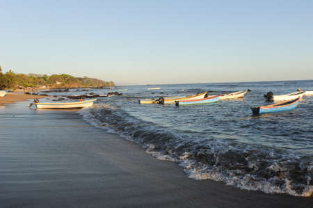 el salvador: The beach of Los Cobanos on El Salvador