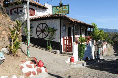 Colonial town of Suchitoto on El Salvador Editorial