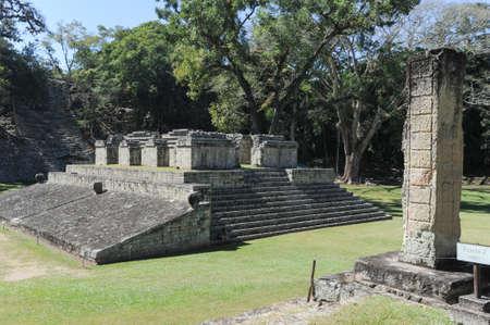 ホンジュラスのコパンのマヤ遺跡