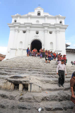 indios: Church of Santo Tomas at Chichicastenango on Guatemala