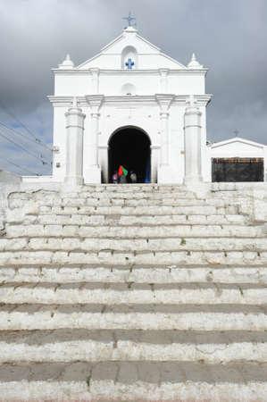 indios: Indians in front of church of  El Calvario at Chichicastenango on Guatemala
