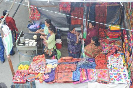 indios: Craft market at Chichicastenango on Guatemala