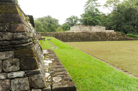 archaeological site: Mayan archaeological Site of Quirigua on Guatemala Stock Photo