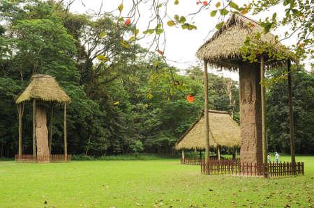 pre columbian: Mayan archaeological Site of Quirigua on Guatemala Stock Photo