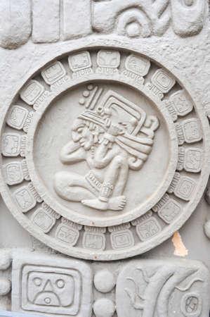 pre columbian: Maya artwork at San Juan la laguna on Guatemala