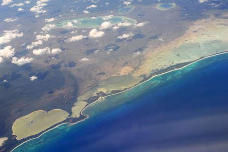 The coast of Yucatan on Mexico
