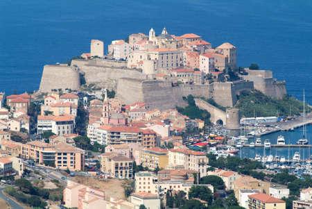 The  citadel of Calvi on Corsica island, France